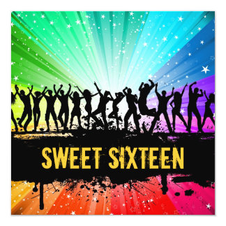 Party People Sweet Sixteenth Birthday Invitation