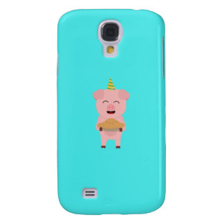 Party Pig with cake Q1Q Galaxy S4 Case