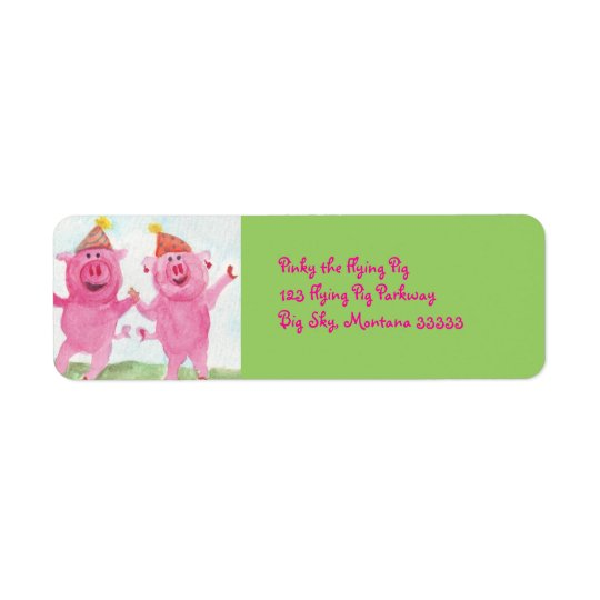 Party Pigs Address Labels