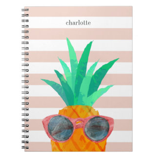 Party Pineapple Spiral Notebook