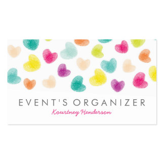 PARTY PLANNER PROFESSIONAL | COLOURFUL CONFETTI PACK OF STANDARD BUSINESS CARDS