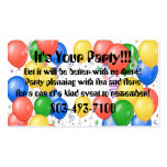 Party Planner Profile Card Business Card Templates