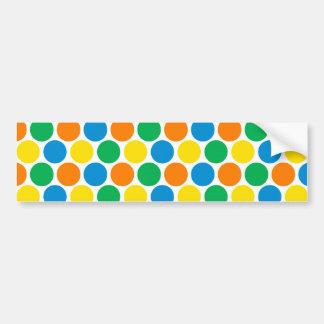 Party Polka Dots Bumper Sticker