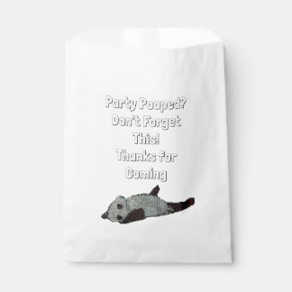 Party Pooped Panda Favor Favour Bags