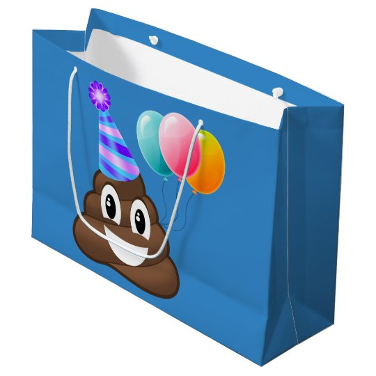 Party Pooper Birthday Emoji Gift Bag