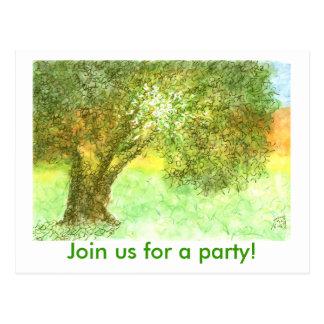 Party Postcard invite - Summer Oak