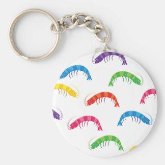 Party Prawns Basic Round Button Key Ring