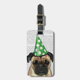 Party Pug 2 Luggage Tag