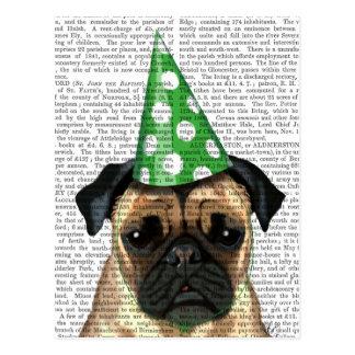 Party Pug 2 Postcard