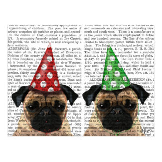 Party Pugs Pair Postcard