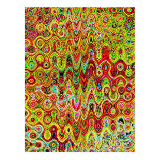 Party Return+gifts Giveaway Waves Circles Artistic Postcard