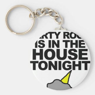 Party Rock Is In The House Tonight Basic Round Button Key Ring