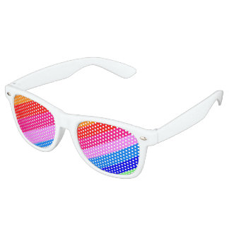 Party shades in rainbow colours