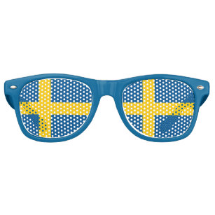 Party Shades Sunglasses - Sweden flag