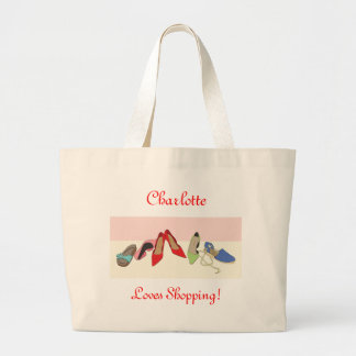 Party Shoes design - personalised Jumbo Tote Bag