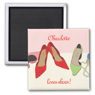 Party Shoes design - personalised Square Magnet