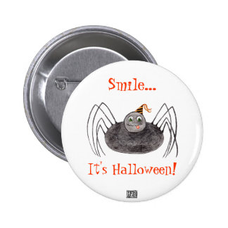Party Spider,  Smile... It's Halloween! Button