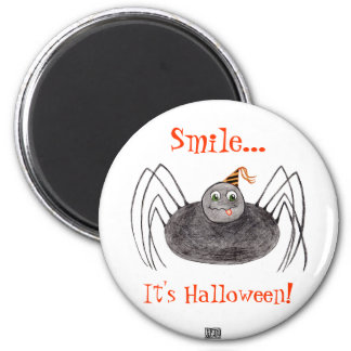 Party Spider  Smile... It's Halloween! Magnet
