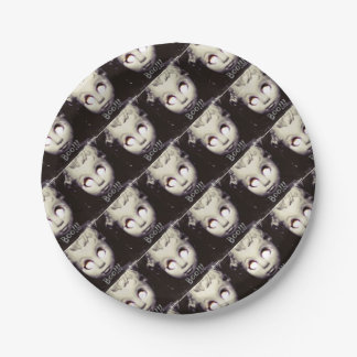 party supplies boo doll,haunted doll paper plate