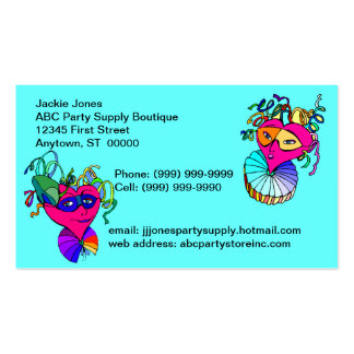 Party Supply Store Boutique Business Cards Card
