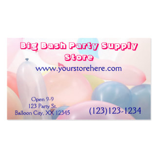 "Party Supply Store Business, 3.5"" x 2.0"", 100 pack Pack Of Standard Business Cards"