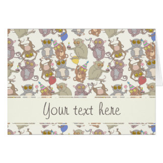 Party Tarsiers, patterned Cards
