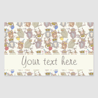 Party Tarsiers, Rectangle Sticker