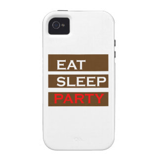 PARTY text wisdom funny fun NavinJOSHI NVN104 GIFT Case-Mate iPhone 4 Cases