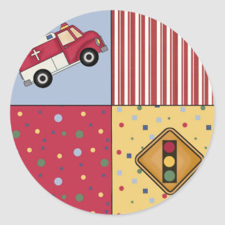 Party Theme Traffic Light ER Truck Fun Stickers