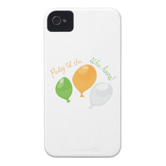 Party Till Wee Hours iPhone 4 Case-Mate Case