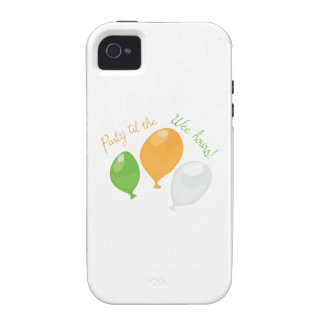 Party Till Wee Hours Case-Mate iPhone 4 Covers