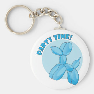 Party Time Basic Round Button Key Ring