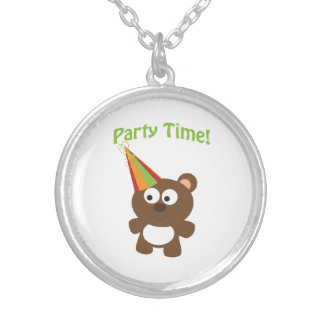 Party Time! Bear Round Pendant Necklace
