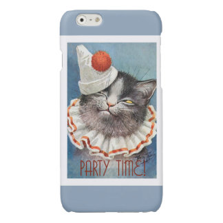 Party Time!  Cat in Birthday Hat - Vintage Art iPhone 6 Plus Case