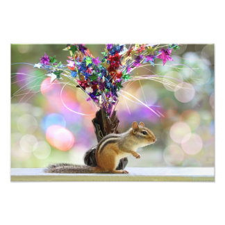 Party Time Chipmunk Picture Photo Art