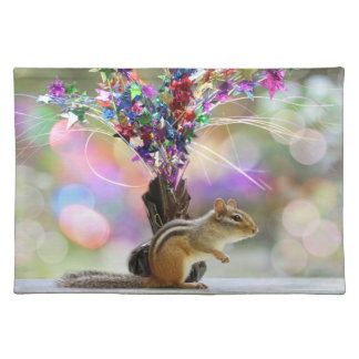 Party Time Chipmunk Picture Placemat