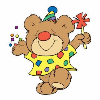 party time clown bear design photo cutout