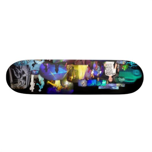 Party Time Collage skateboard decks