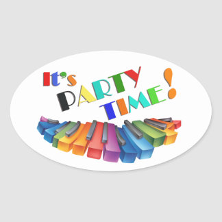 Party Time Colorful Sticker