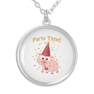 Party time confetti Pig Necklaces