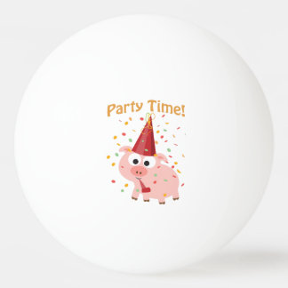Party time confetti Pig Ping Pong Ball