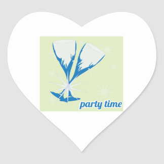 Party Time Heart Sticker