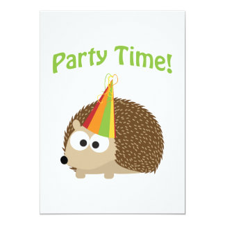 Party Time! Hedgehog Party Invitation