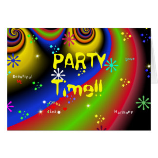 PARTY TIME!! Invitation Greeting Card