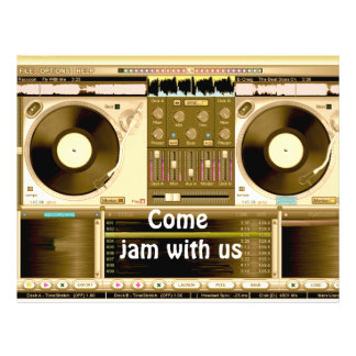 Party Time, jam with us_ 21.5 Cm X 28 Cm Flyer