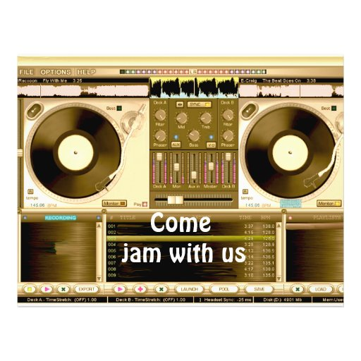 Party Time, jam with us_ Flyer Design