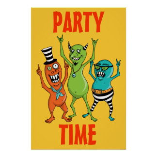 Party Time Monsters Posters