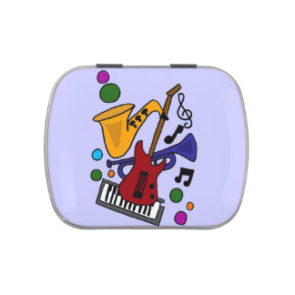Party Time Music and Instruments Candy Tin