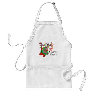 PARTY TIME NAUGHTY SANTA by SHARON SHARPE Standard Apron