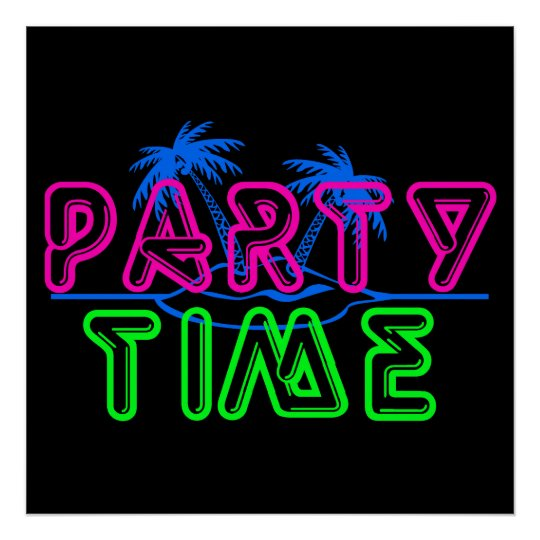 party time poster zazzle co uk